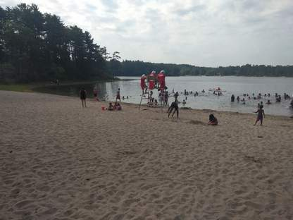 College Pond beach