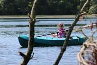 young kayaker in Barrett Pond